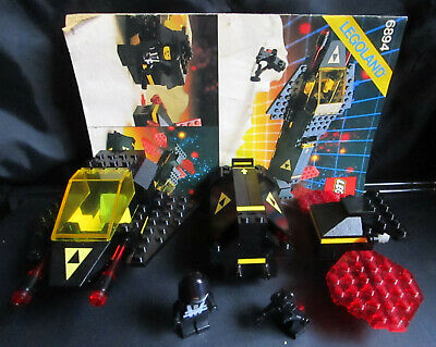 Lego 6884 Invader Space Blacktron I Complete Set w/ Instruction Manual 1987