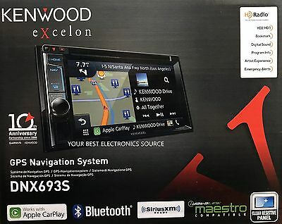 "NEW Kenwood DNX693S 6.2"" eXcelon 2-DIN Car AV Navigation System With Bluetooth"