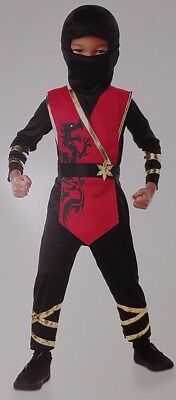 NEW Fire Dragon Ninja Costume Red Halloween Baby 12-18 Months ()