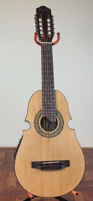 Cuatro De Puerto Rico Don Jose, Acoustic-Electric 10 String Guitar., With Bag