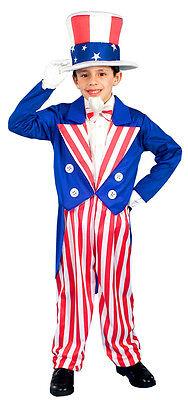 Forum Novelties Uncle Sam Patriotic Child Costume 4th of July Size Large 12-14