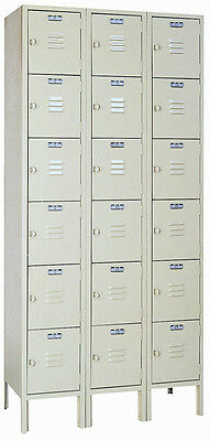 Lyon Standard Steel Gym School Athletic Industrial Metal Lockers 6 High 5342-3