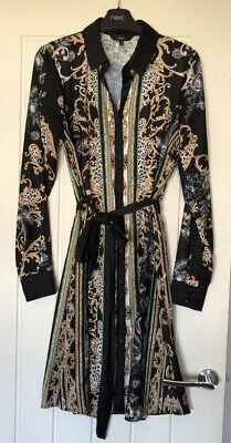 Next Printed Versace Style Shirt Dress Size 10