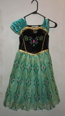 SAMGAMI BABY FROZEN PRINCESS ANNA PULLOVER COSTUME SZ 8 130 HALLOWEEN PLAY DRESS