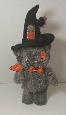 "NOS Hallmark Stitch The Cat Halloween Singing Animated Toy 15"" Addams Family 17"""
