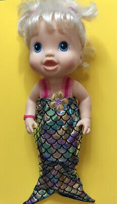 "14"" Inch Kids Doll Clothes 4 Baby Alive Metallic Mermaid Tail Halloween Costume"