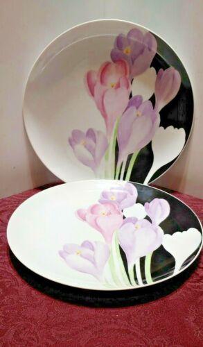 "VINTAGE MIKASA VOGUE SET OF TWO DINNER PLATES  10 3/8""  L1052  EXC"