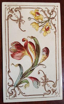 "Rare Antique Villeroy and Boch Tile. 4 3/4"" x 8 1/4"""