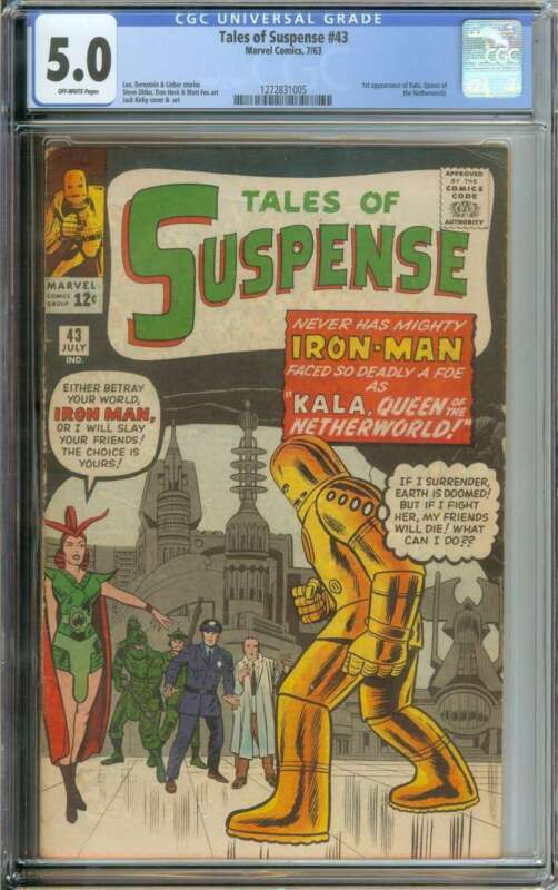 TALES OF SUSPENSE #43 CGC 5.0 OW PAGES