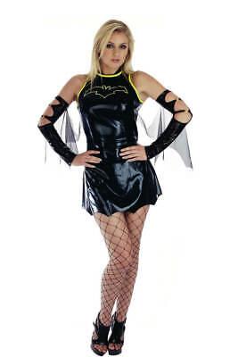 Comic Book Villain Costumes (WOMAN'S BAT BABE SEXY SUPERHERO VILLAIN COMIC BOOK FANCY DRESS COSTUME)