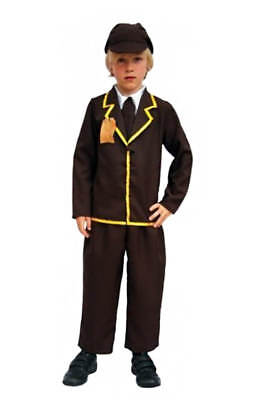 CHILDS 1940 HISTORICAL WW2 COSTUME BOY SCHOOL CURRICULUM FANCY DRESS