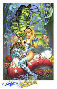 J-SCOTT-CAMPBELL-FAIRY-TALES-FANTASIES-ALICE-IN-WONDERLAND-ART-PRINT-SDCC-2014