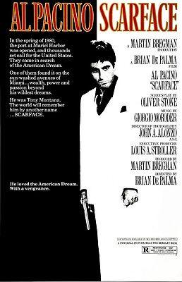 "Scarface movie poster  : 11"" x 17"" - Al Pacino Poster, Brian De Palma"
