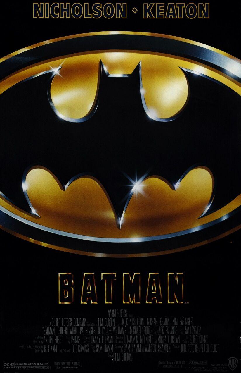 Batman movie poster  : 11 x 17 inches : Tim Burton, Michael Keaton