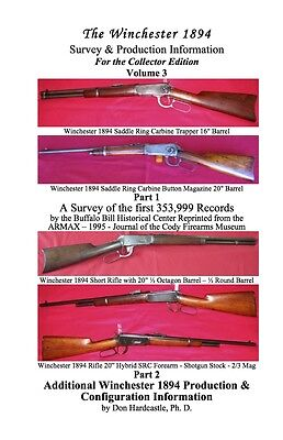 Book  Winchester 1894 94 Survey   Production Information   Collector Edition