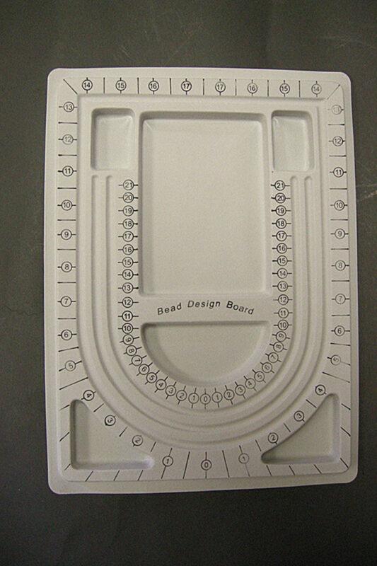 1pc Grey Plastic Bead Design Board-8985