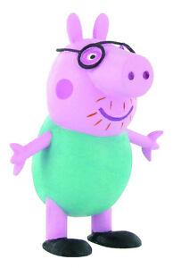 Peppa Pig figurine cochon Daddy Pig 6,5 cm vert clair Comansi Y99682