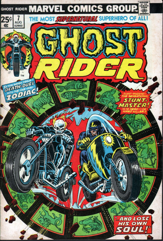 Marvel Ghost Rider #7 (1973) - No stock images