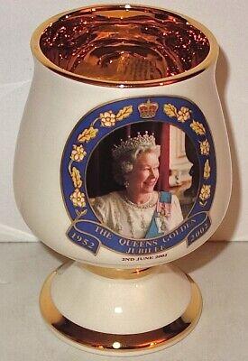LENOX Porcelain QUEEN ELIZABETH 1952-2002 GOLDEN JUBILEE Porcelain CUP~LOT #2!