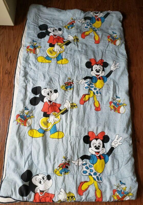 Vintage Walt Disney Mickey Mouse & Minnie Mouse Sleeping Bag
