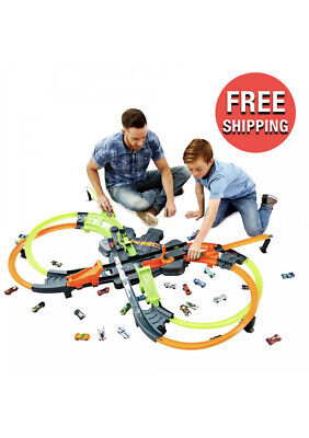 Hot Wheels Colossal Crash Track Set Builder Playset Race Toys For Kids and Boys