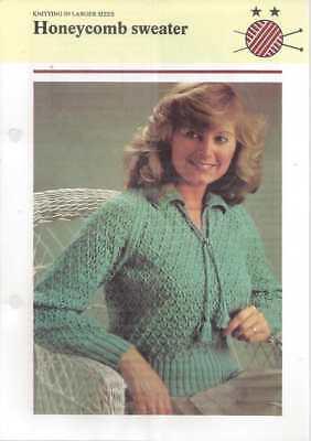 Beautiful Knit Sweater PATTERN Honeycomb Sweater