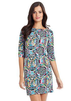 VFISH Caitlyn Dress Kaleidoscope Print Jersey Dress Medium 6-8 NEW w/Tags! $108 Kaleidoscope Jersey Dress