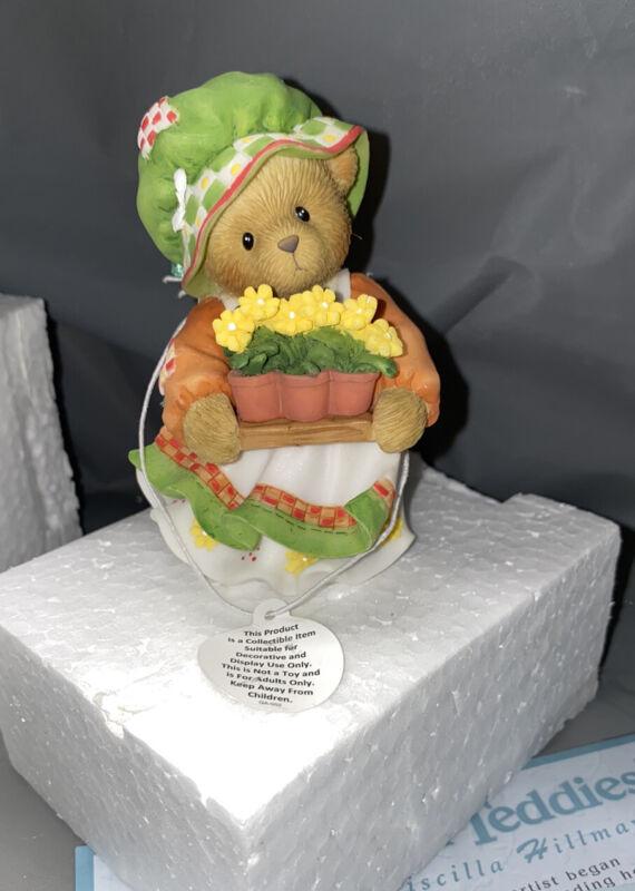 Cherished Teddies 4012863 Julia KEEP ON BLOOMING 2008 Figurine NEW IN BOX