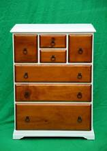 Freshly painted solid pine tallboy chest,DELIVERY AVAILABLE. Atwell Cockburn Area Preview