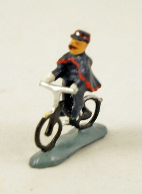 J CARLTON BY GAULT FRENCH MINIATURE FIGURINE POLICEMAN RIDING BICYCLE IN PARIS for sale  USA