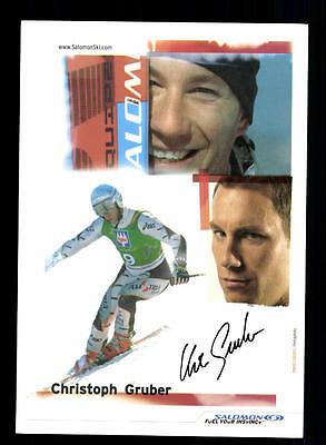 Christoph Gruber Autogrammkarte Original Signiert Snowboard + A 134019