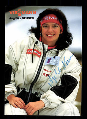Angelika Neuner Autogrammkarte Original Signiert Rodeln + A 152591