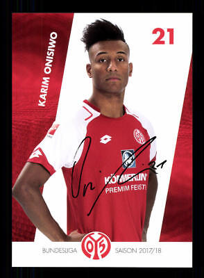 Karim Onisiwo Autogrammkarte FSV Mainz 05 2017-18   +A 169099 OU