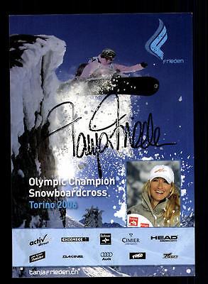 Tanja Frieden Autogrammkarte Original Signiert Snowboard+ A 134014