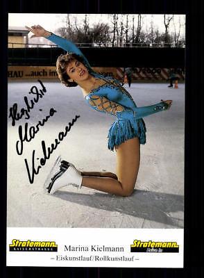 Marina Kielmann  Autogrammkarte Original Signiert Eiskunstlauf +A 188100