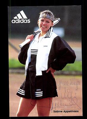 Sabine Appelmans Autogrammkarte Original Signiert Tennis+ A 149682