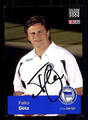 Falko Götz Autogrammkarte Hertha BSC Berlin 2005-06 Original Sign+A 142359