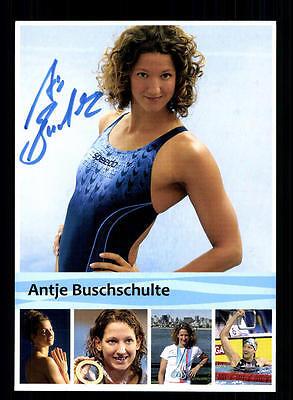 Antje Buschschulte Autogrammkarte Original Signiert Schwimmen + A 134628