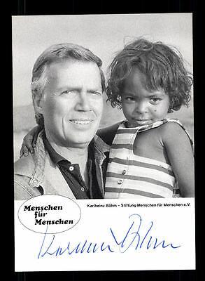 Karlheinz Böhm Autogrammkarte Original Signiert # BC 89397