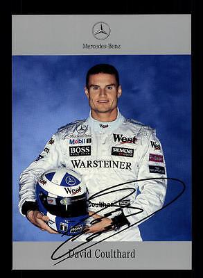 David Coulthard Autogrammkarte Formel 1 Vize Weltmeister +A 153599 D