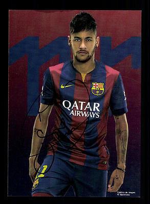 Neymar Autogrammkarte FC Barcelona TOP