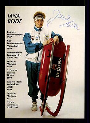 Jana Bode Autogrammkarte Original Signiert Rodeln + A 152589