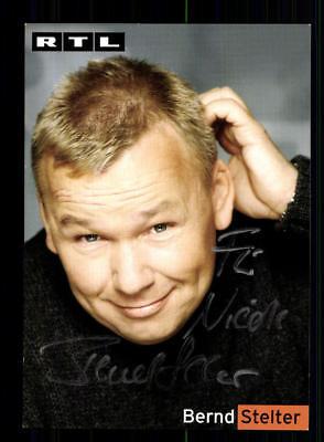 Bernd Stelter RTL Autogrammkarte Original Signiert # BC 137497