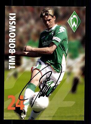 Tim Borowski Autogrammkarte Werder Bremen 2007-08 Original Signiert + A 156090
