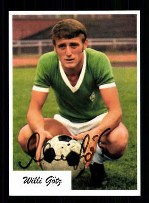 Willi Götz Autogrammkarte Werder Bremen Spieler 70er Jahre Original Signiert