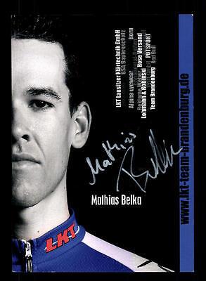 Mathias Belka Autogrammkarte Original Signiert Radfahren + A 157108