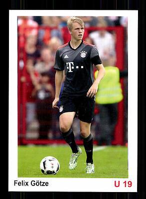 Felix Götze Autogrammkarte Bayern München U 19 2016-17