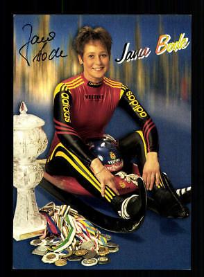 Jana Bode Autogrammkarte Original Signiert Rodeln +A 180889