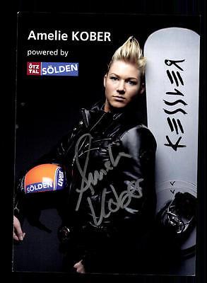Amelie Kober Autogrammkarte Original Signiert Snowboard + A 134021