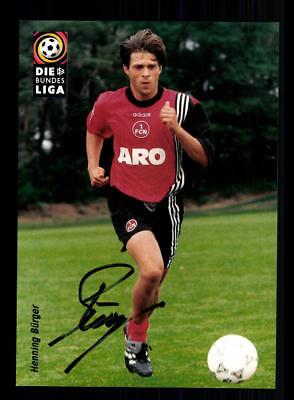 Henning Bürger Autogrammkarte 1 FC Nürnberg 1997-98 Original Signiert
